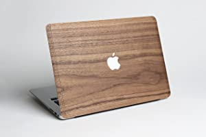 """WOODWE® Real Wood Macbook Protective Cover for Air 13""""   Model: A1237/A1304/A1369/A1466; Early 2008 – Early 2015   Genuine & Natural WALNUT WOOD   TOP&BOTTOM COVER"""