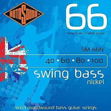 Rotosound SM66N Swing - Cuerdas para bajo eléctrico (níquel): Amazon.es: Instrumentos musicales