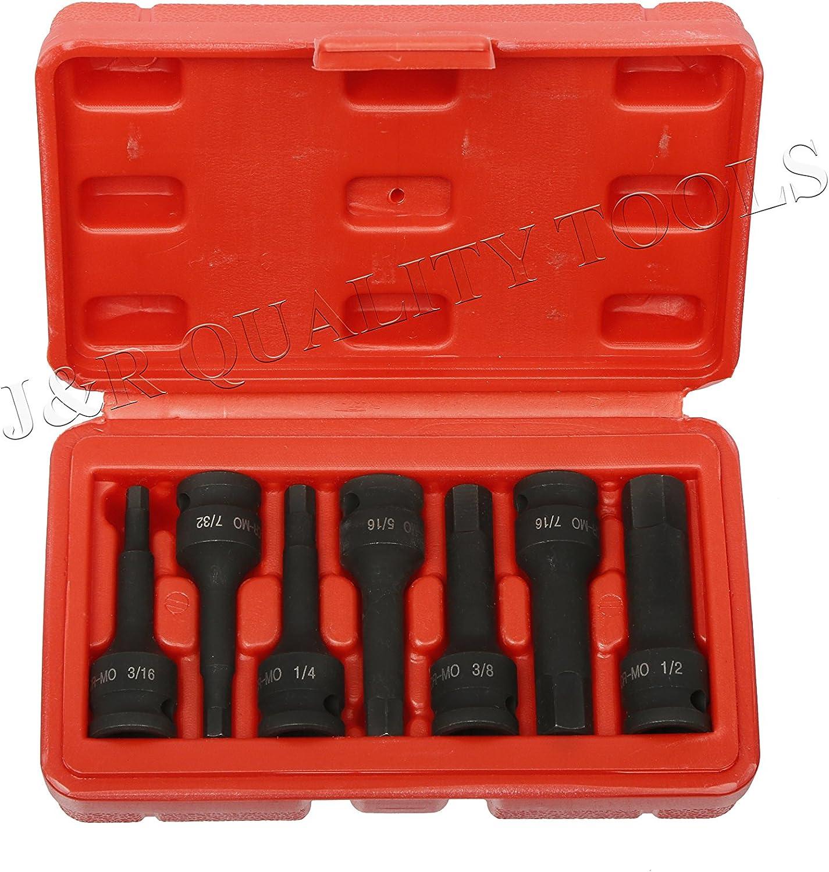 """Craftsman 5pc 1//4/"""" SAE HEX Sockets Bits Allen Set New Tools 3//16/"""" 3//8/"""" Tools"""