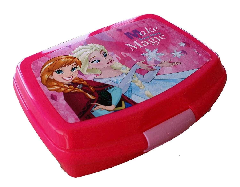 Elsa und Anna Brotbox Rot Lunchbox Frozen Brotzeitdose mit Motiven der Eiskö nigin Jausen Box fü r Mä dchen
