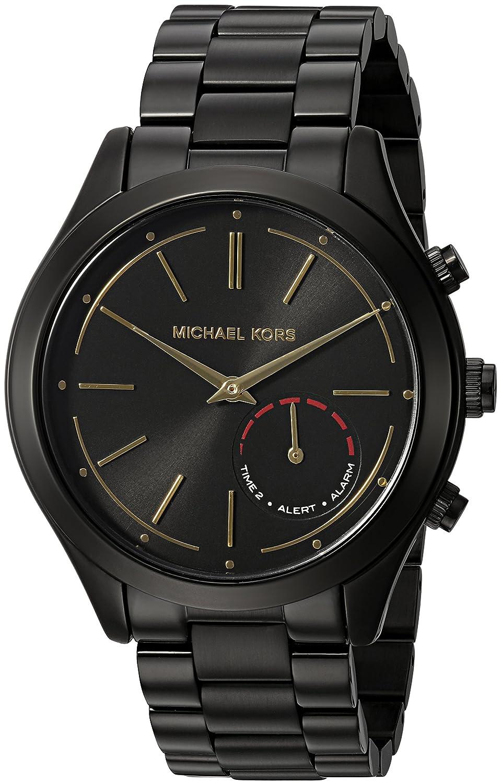 e363a5c1bbbf Amazon.com  Michael Kors Access Hybrid Black Slim Runway Smartwatch  MKT4003  Watches