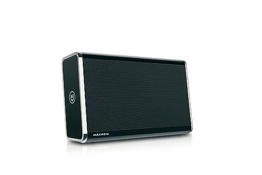 113 opinioni per Macrom M-BTP50.B Premium Portable Bluetooth Speaker, Nero
