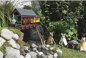PIKO G SCALE MODEL TRAIN BUILDINGS - COVERED BRIDGE - 62116