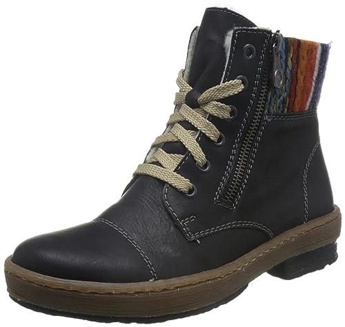 Rieker Damen Damen Rieker Stiefeletten Z6721 00 Schwarz 364976  Amazon   Schuhe ... 2fe7e9