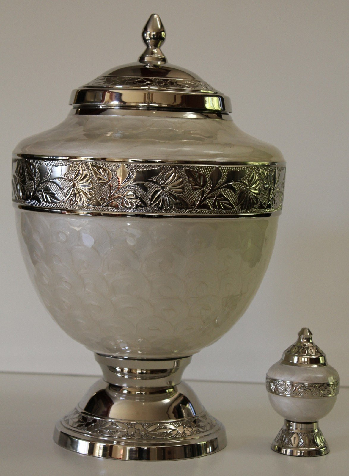 Cremation Urns, Adult Funeral Cremation Urn with Keepsake, Urn for Human Ashes by NWA