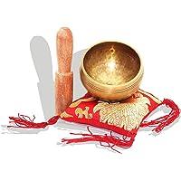 wishing Tibetische Klangschale 8cm Klangschalen Set mit Klöppel und Kissen für Entspannung, Stress & Angstreduktion, Chakra Heilung, Yoga