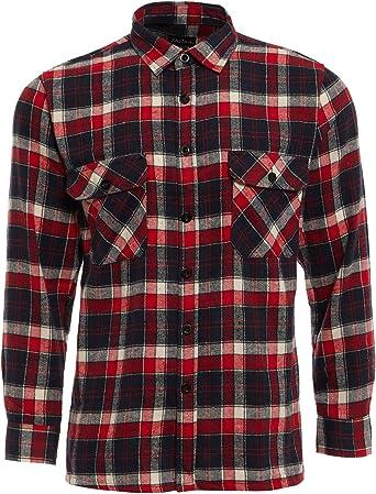 TB Clothing - Camisa de trabajo para hombre (algodón cepillado, franela, manga larga, material tejido): Amazon.es: Ropa y accesorios