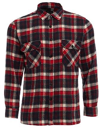 Tb Clothing Mens Work Shirts Brushed Cotton Lumberjack Flannel Long