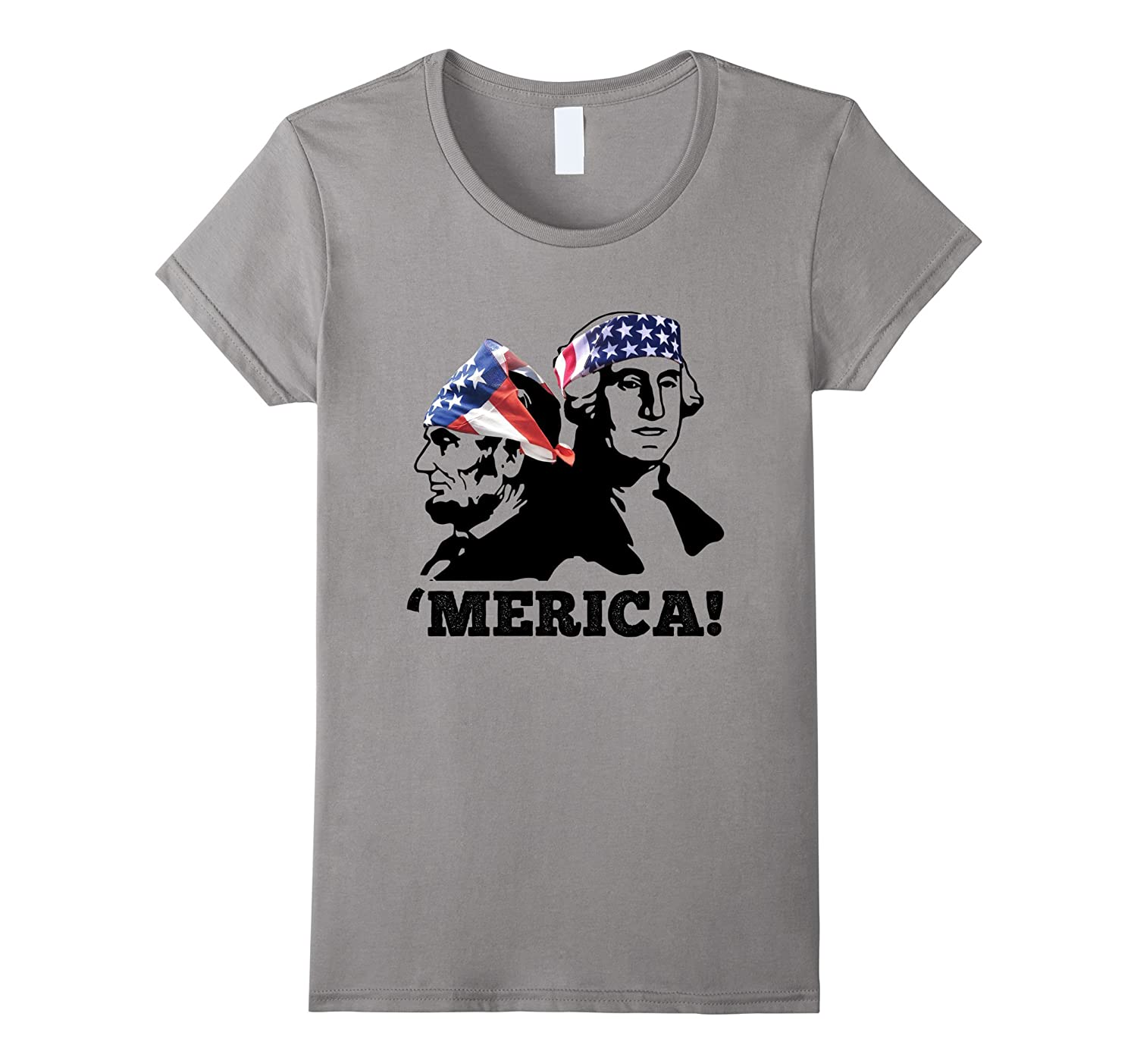 Abe Lincoln George Washington 4th Of July Merica T-Shirt