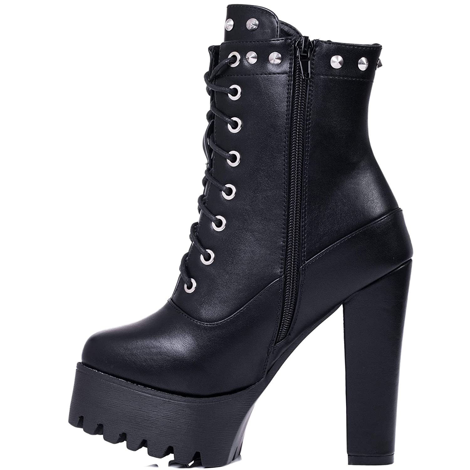 1a6a4234d Spylovebuy GOLLIE Women's Chunky Platform Block Heel Ankle Boots Shoes:  Amazon.co.uk: Shoes & Bags