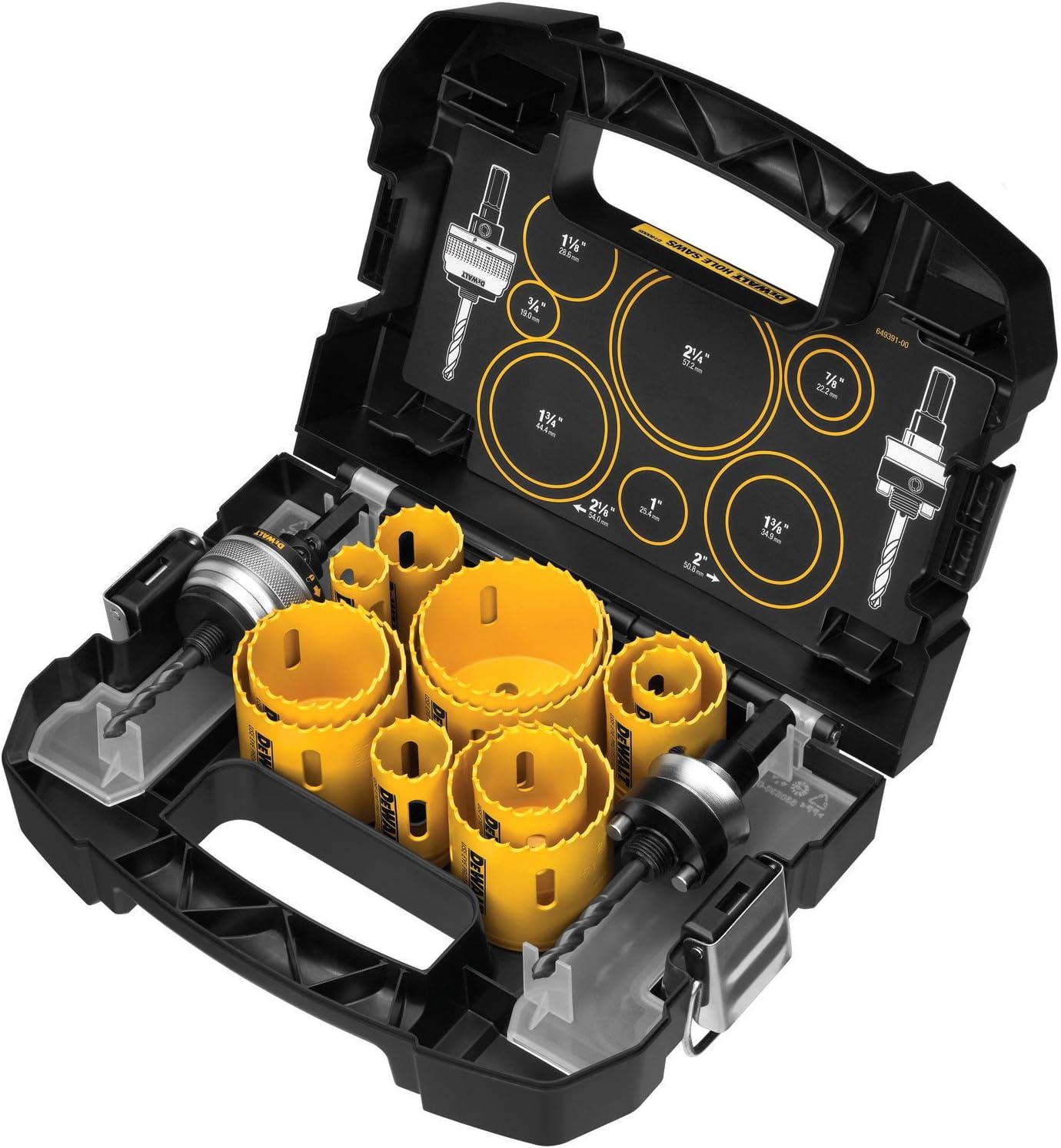6. DEWALT D180005 14-Piece Holesaw Set