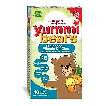 Yummi Bears, Echinacea + Vitamina C y Zinc - héroe Nutritional Products: Amazon.es: Salud y cuidado personal