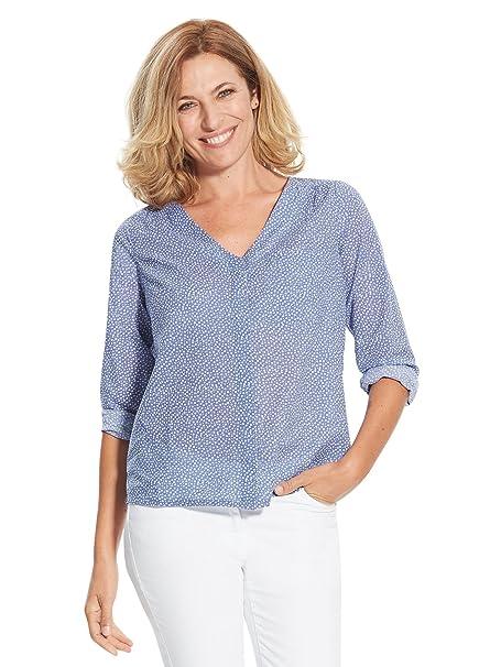 Balsamik - Blusa estampada en velo - Mujer - Size : 52 - Colour : Azul