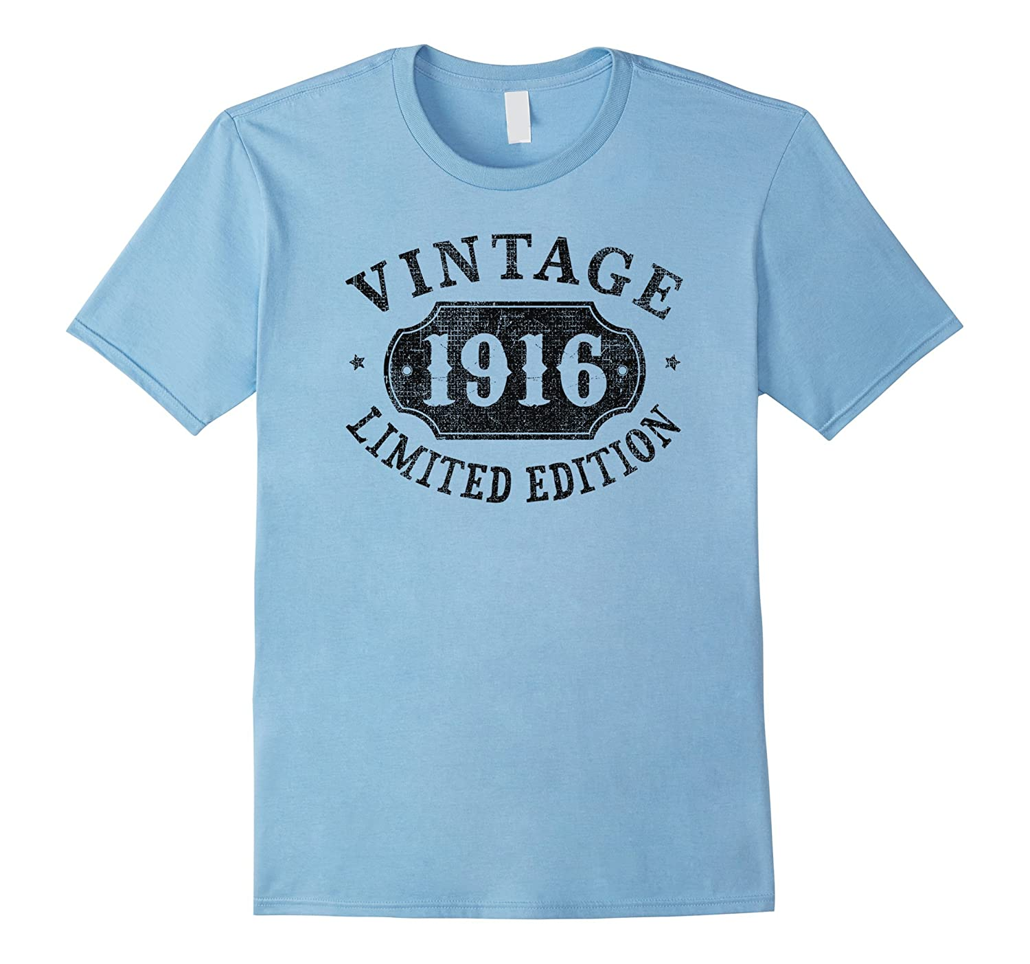 101 Years Old 101st B-day Birthday Gift 1916 Limited T-Shirt-PL