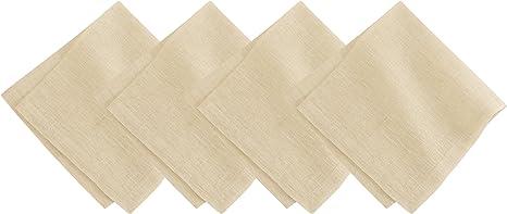 Amazon Com Villeroy And Boch La Classica Luxury Linen Fabric Napkin Set Of 4 21 X21 Ivory Metallic Gold Home Kitchen