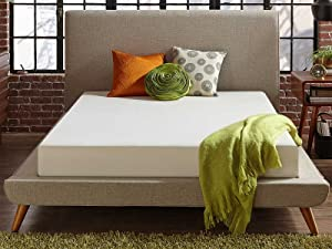 Live and Sleep Classic 8 Inch Medium Firm Memory Foam Mattress - Full Extra-Long Bed in a Box with Firm Body Support, CertiPUR Certified - Full XL Size