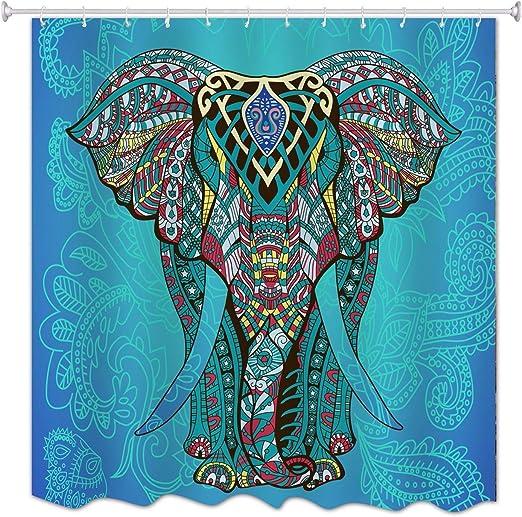 A.Monamour Azul Mandala Elefante Telón De Fondo Tatuaje Tribal ...