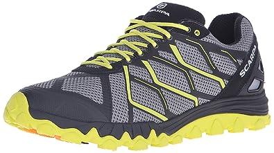 SCARPA Men's Proton Running Shoe Trail Runner, Grey/Lime, 39 EU/6.5