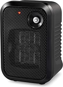 HOME_CHOICE 500 Watt Mini Personal Ceramic Space Heater Electric Portable Heater Quiet for Home Dorm Office Desktop with Safety Power Switch (Black, 1)