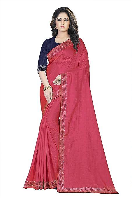 Nilesh Women's Silk Saree With Blouse Pices(Nilesh CT101 Gajari)