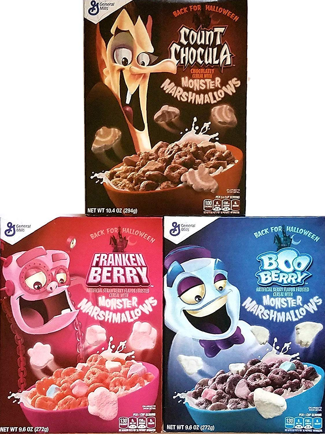 Amazon Com Monster Cereals 2019 3 Pack Count Chocula Frankenberry Boo Berry Back For Halloween Grocery Gourmet Food The best of the three halloween cereals by general mills. monster cereals 2019 3 pack count chocula frankenberry boo berry back for halloween