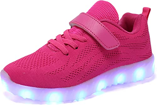 Xmas Gift 7 Color Kids LED Light Up Luminous Shoes Boys Girls USB Casual Sneaker