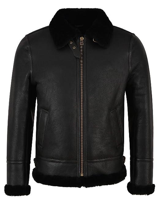 giacca di montone da uomo shearling