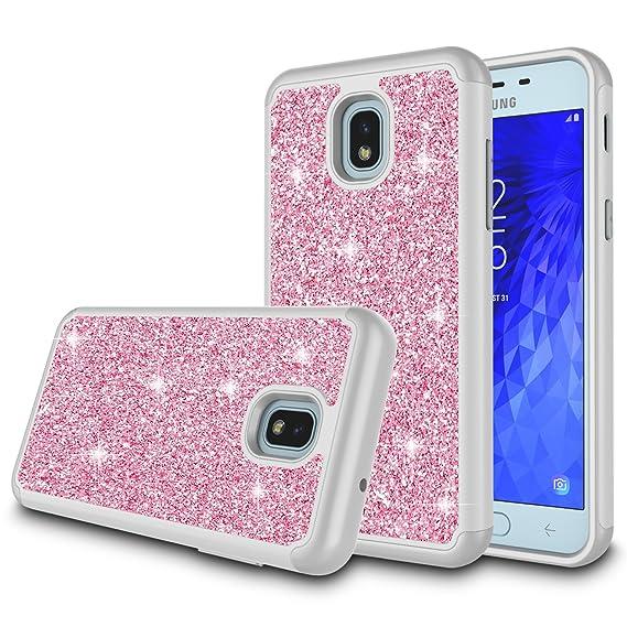 new style 65a10 e019d Galaxy J3 Orbit Case,Samsung Galaxy J3 Eclipse 2 Case,J3 Prime 2 Case,J3  Express Prime 3 Case,J3 Emerge 2018 Case,Amp Prime 3 Case, Zectoo Glitter  ...