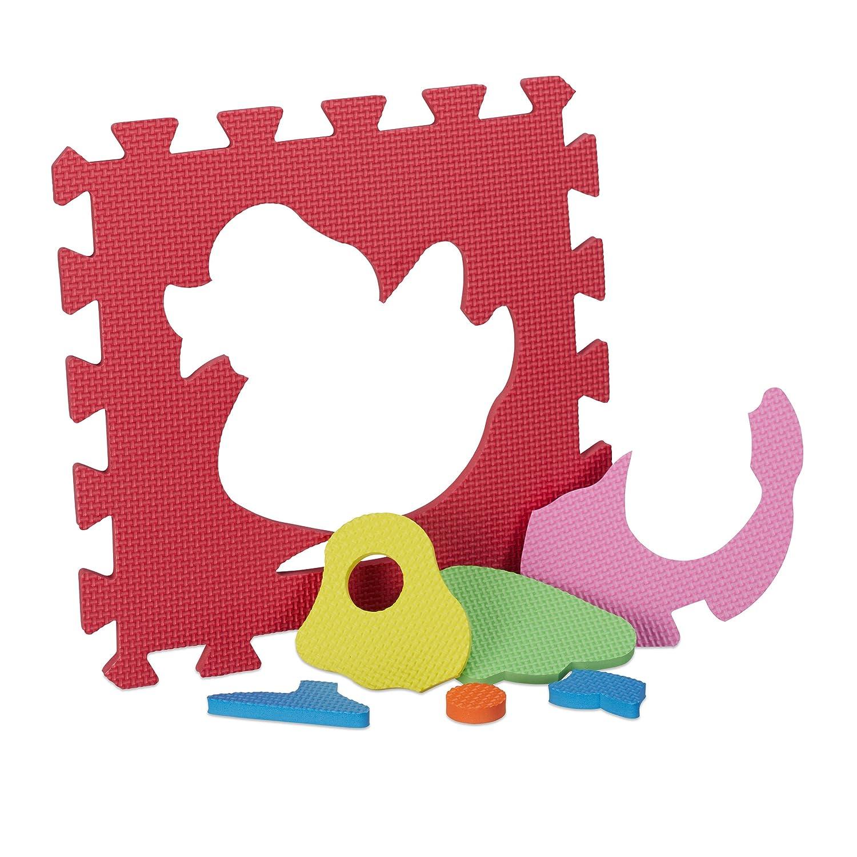 Blu Mappamondo Cameretta Colorato Atossico Animali Relaxdays Tappeto per Bambini Tappetino Gioco 1 pz Antiscivolo 150x100