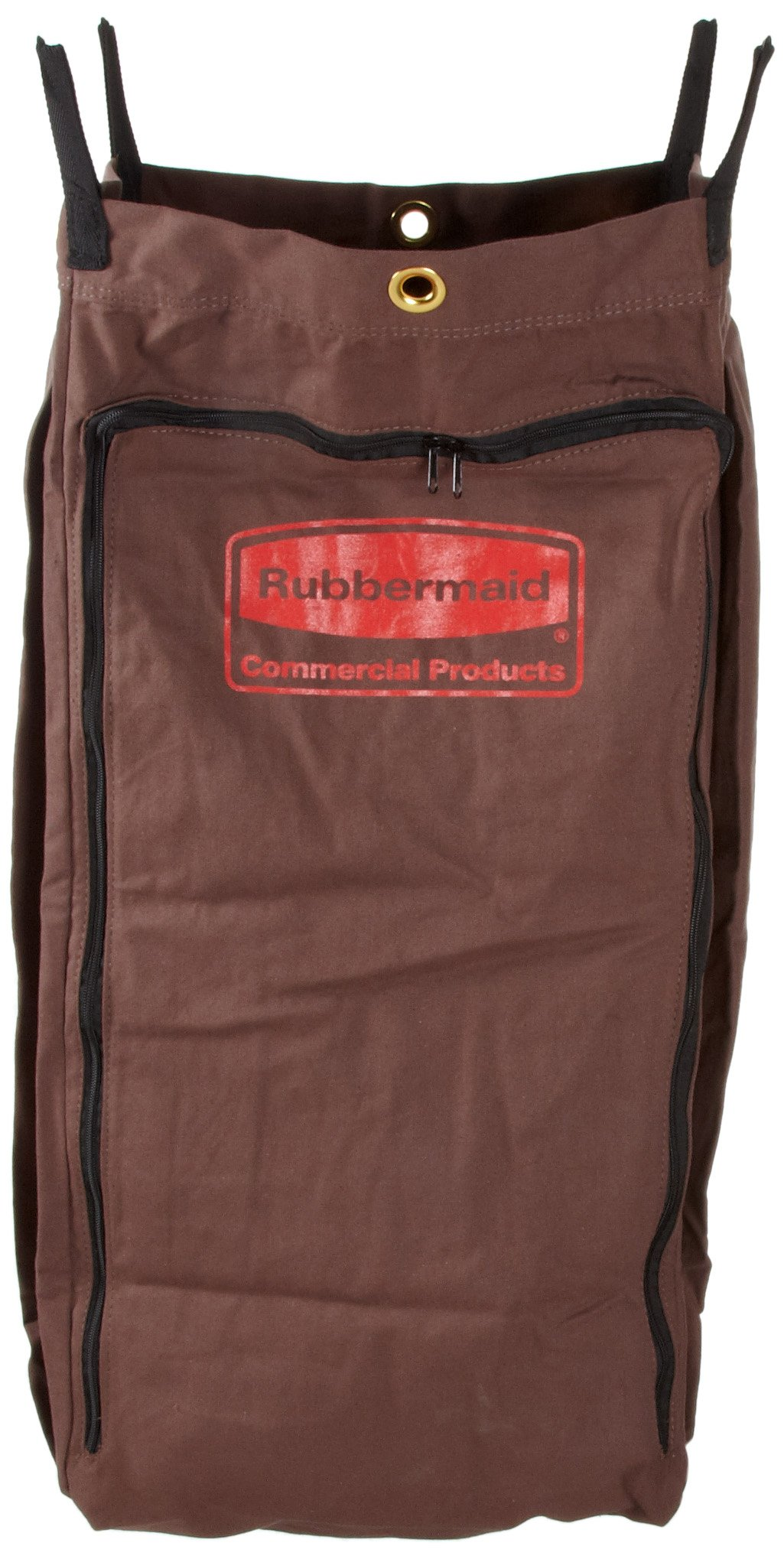 Rubbermaid Commercial Executive Series FG9T0400BRN Canvas Linen Accessory Bag for Full Size and Compact Housekeeping Carts, Brown by Rubbermaid Commercial Products