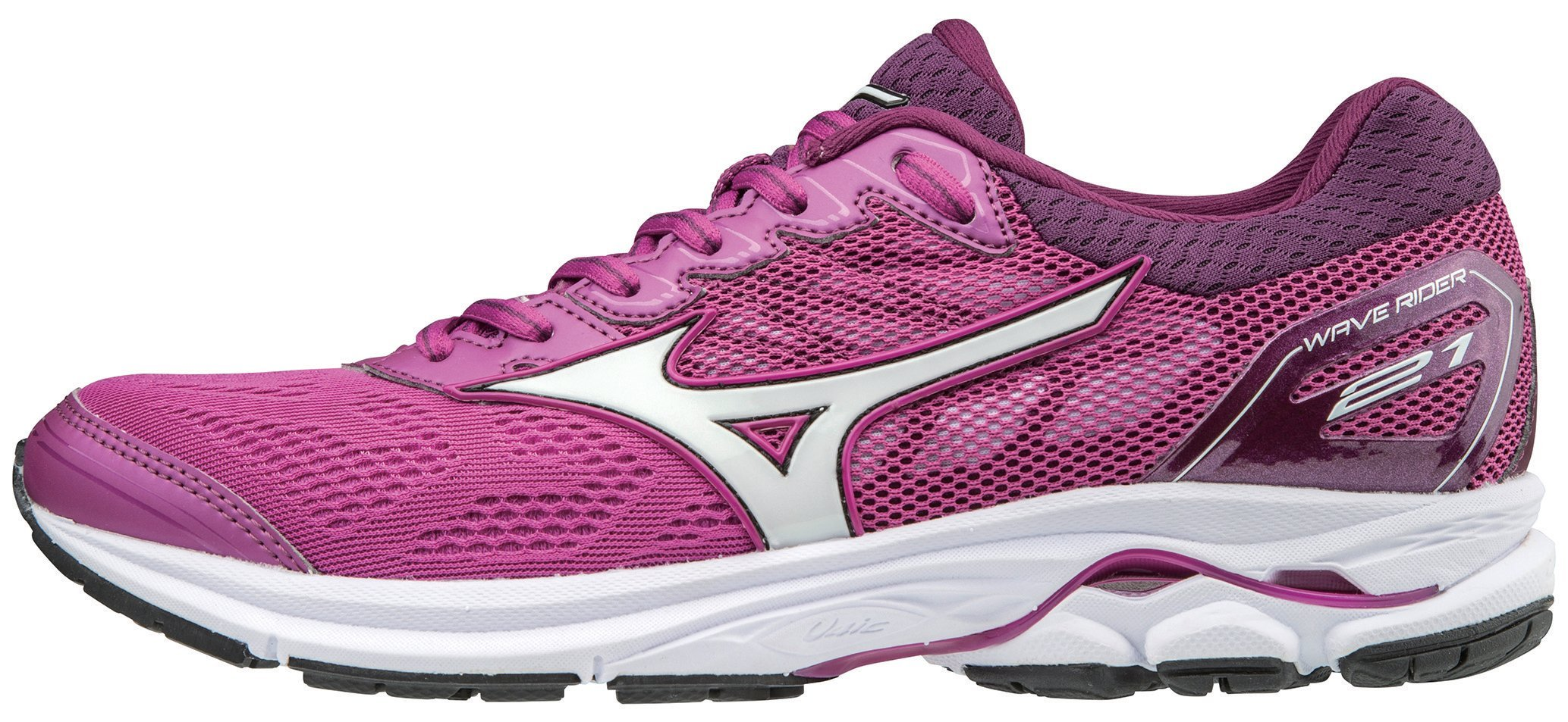 Mizuno Women's Wave Rider 21 Running Shoe Athletic Shoe, Clover/White, 7.5 B US