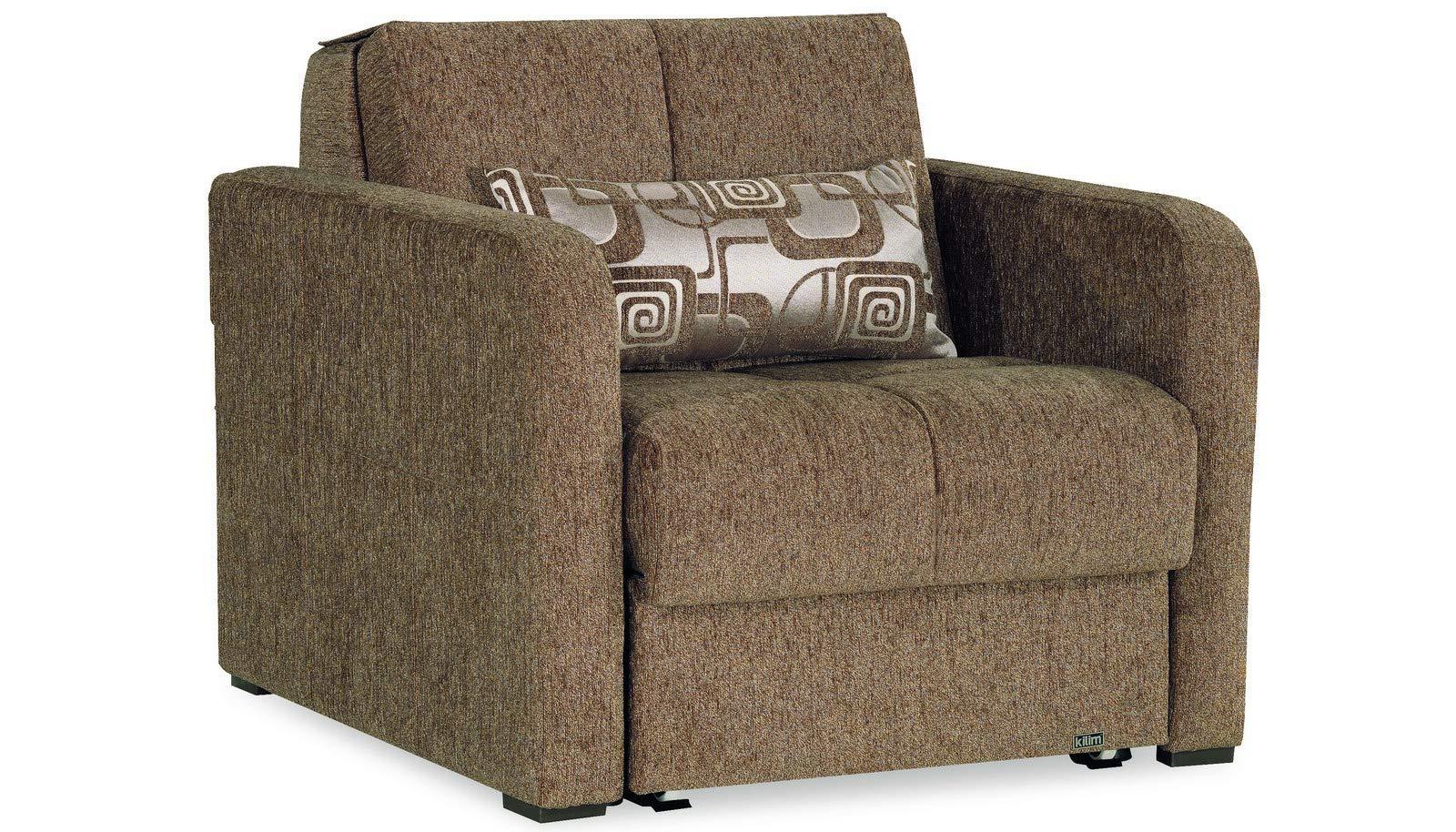 Casamode Ferra Fashion Chair Sleeper Brown Fabric Chennile