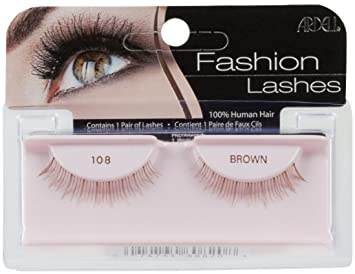 2a3374c0f51 Amazon.com : Ardell Fashion Lashes Pair - 108 Brown (Pack of 4) : Fake  Eyelashes And Adhesives : Beauty