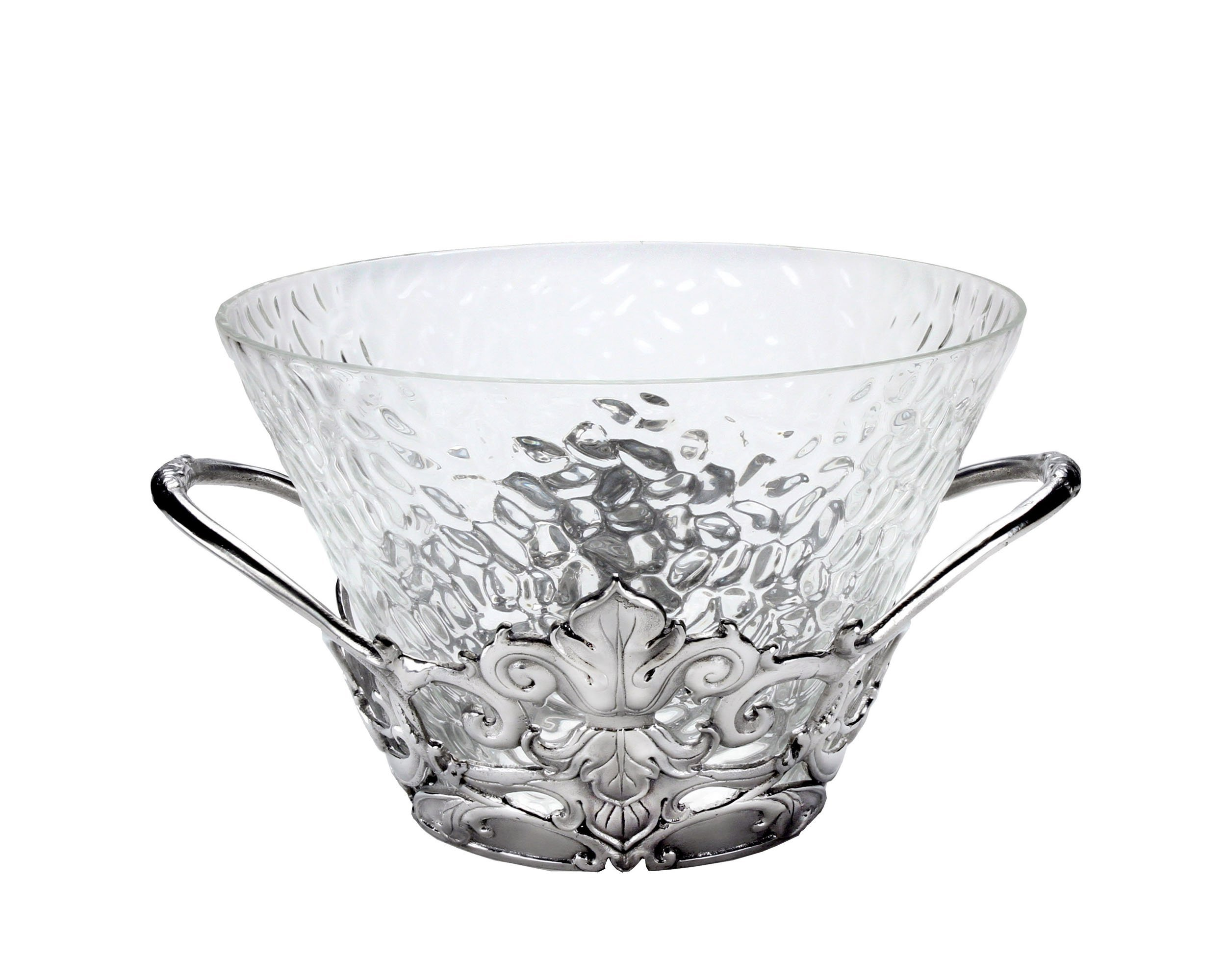 Arthur Court Designs Aluminum Fleur-De-Lis Ice Tub 8 Inches Tall and 14 Inches Diameter by Arthur Court (Image #1)
