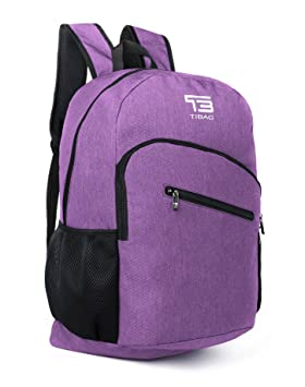 35L TB TIBAG Water Resistant Lightweight Packable Folding Daypack Backpack ( LIGHT PURPLE, 35L) 38b7bf9d68