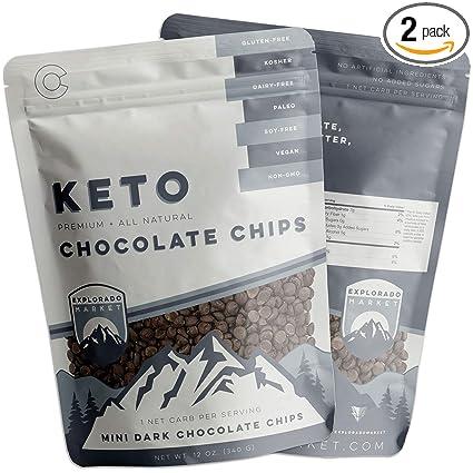 Mini fragmentos de chocolate oscuro de 1.08 oz, saludable ...