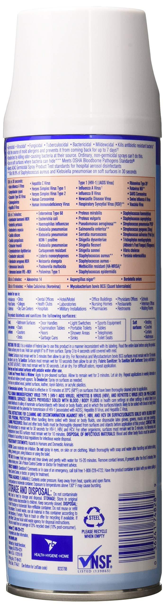 Lysol Disinfectant Spray, Crisp Linen, 76oz (4X19oz) by Lysol (Image #2)