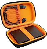 SmartFish [DEFENDER SERIES] Travel Organizer/2.5'' Hard Drive case with Memory Foam Protection,Orange