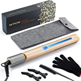 NITION Professional Salon Hair Straightener Argan Oil Tourmaline Ceramic Titanium Straightening Flat Iron for Healthy…
