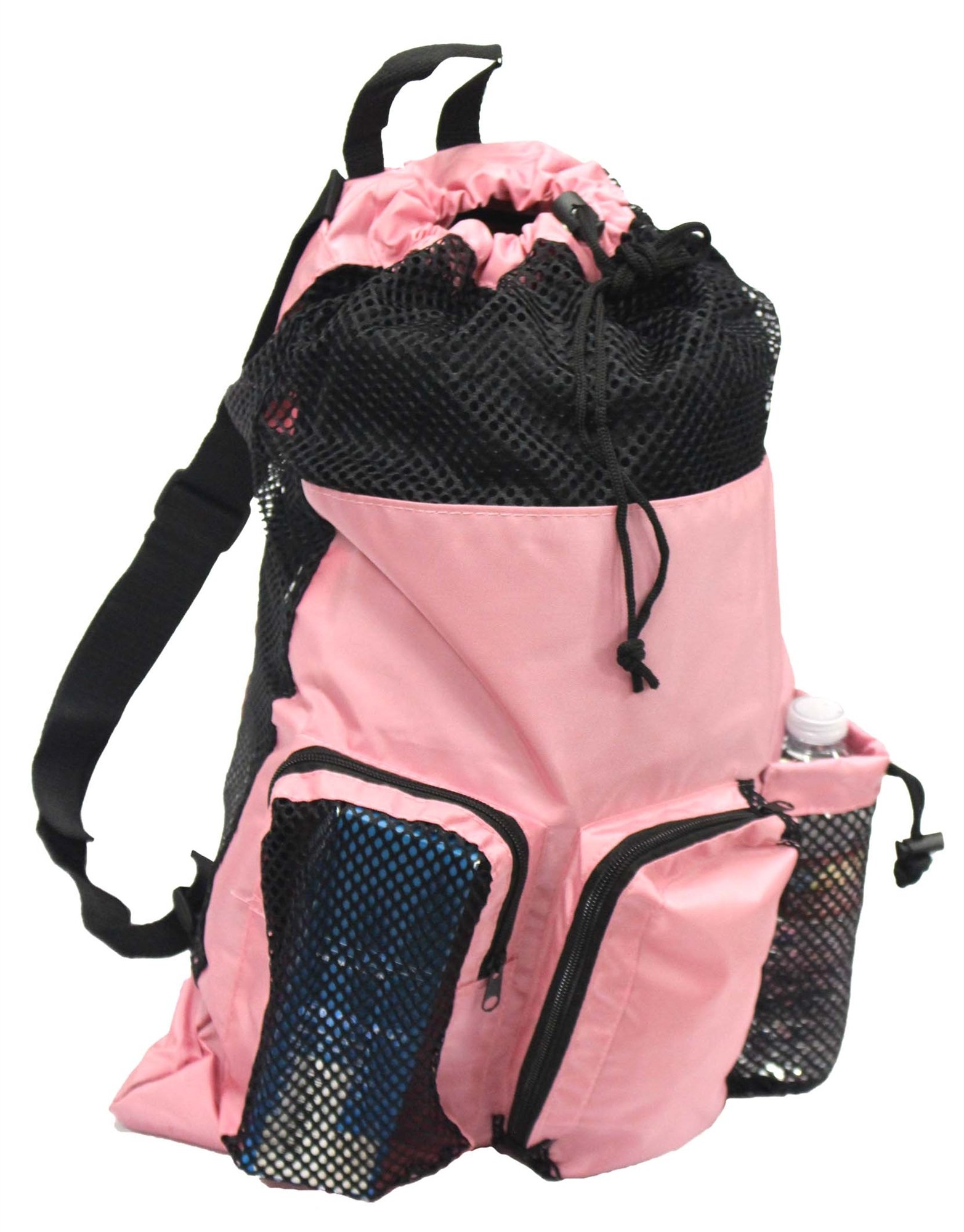 Adoretex Ultrastar Big Mesh Equipment Sport Drawstring Gym Swim Bag - UMB001 - Pink