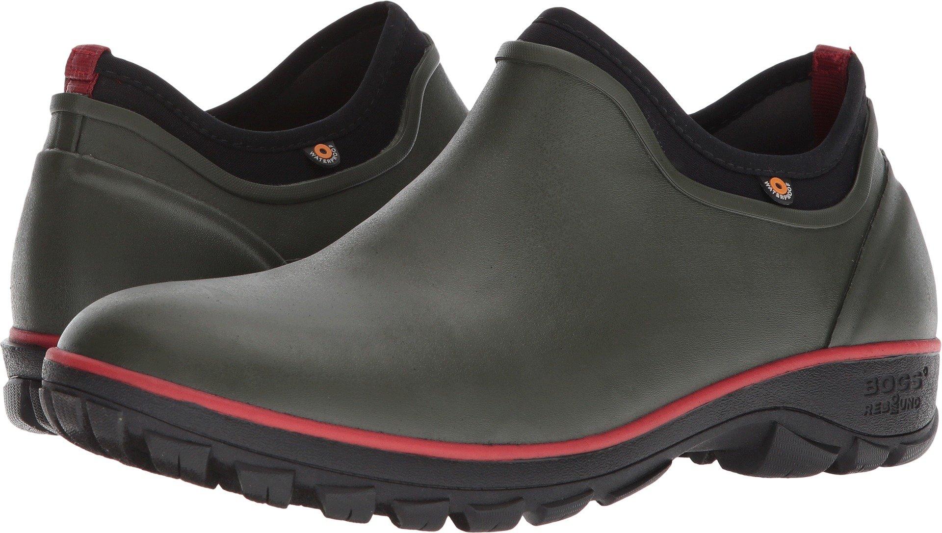 Bogs Men's Sauvie Slip On Soft Toe Rain Boot, Dark Green, 12 D(M) US