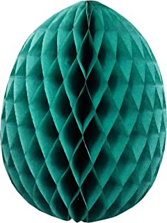product image for 3-Pack 9 Inch Honeycomb Tissue Paper Easter Egg Decoration (Teal)