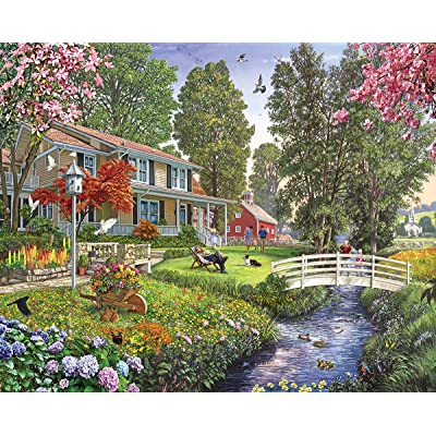 White Mountain Puzzles Sunday Afternoon - 1000 Piece Jigsaw Puzzle: Toys & Games