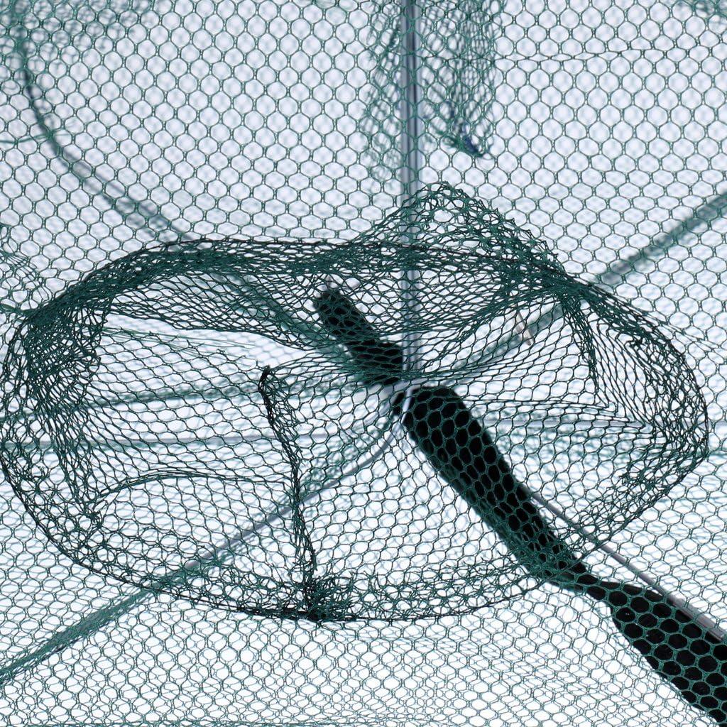 Gr/ün MagiDeal Fischernetz mit L/öcher f/ür K/öderfischreuse Krebsreuse Angeln Fischfang