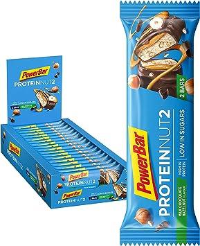 PowerBar Protein Nut2 Milk Choco Hazelnut 18x(2x22,5g) - Barras de Proteína con Bajo Contenido de Azúcar