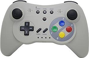 NEXiLUX Wireless 3 Pro Controller Gamepad for Nintendo Wii U, Gray