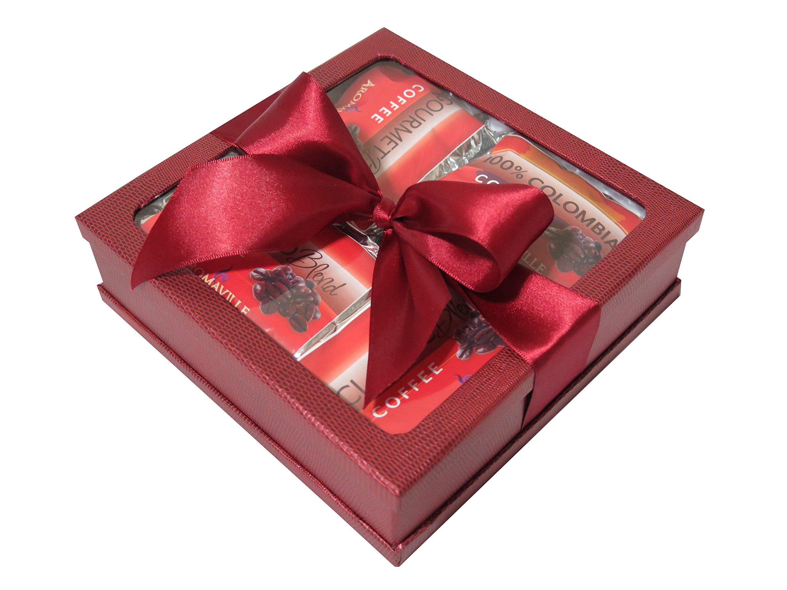 Gourmet Coffee Gift Set - Coffee Gift Basket - Coffee Lovers Gifts - Coffee Gift Set - Best Coffee Gift (Burgundy)