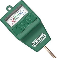 Dr.Meter S10 Soil Moisture Sensor Meter, Hygrometer Moisture Sensor for Garden, Farm