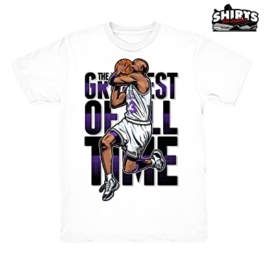 97203370e97ba4 Concord 11 The Goat Shirt to Match Jordan 11 Concord Sneakers White t-Shirts  (
