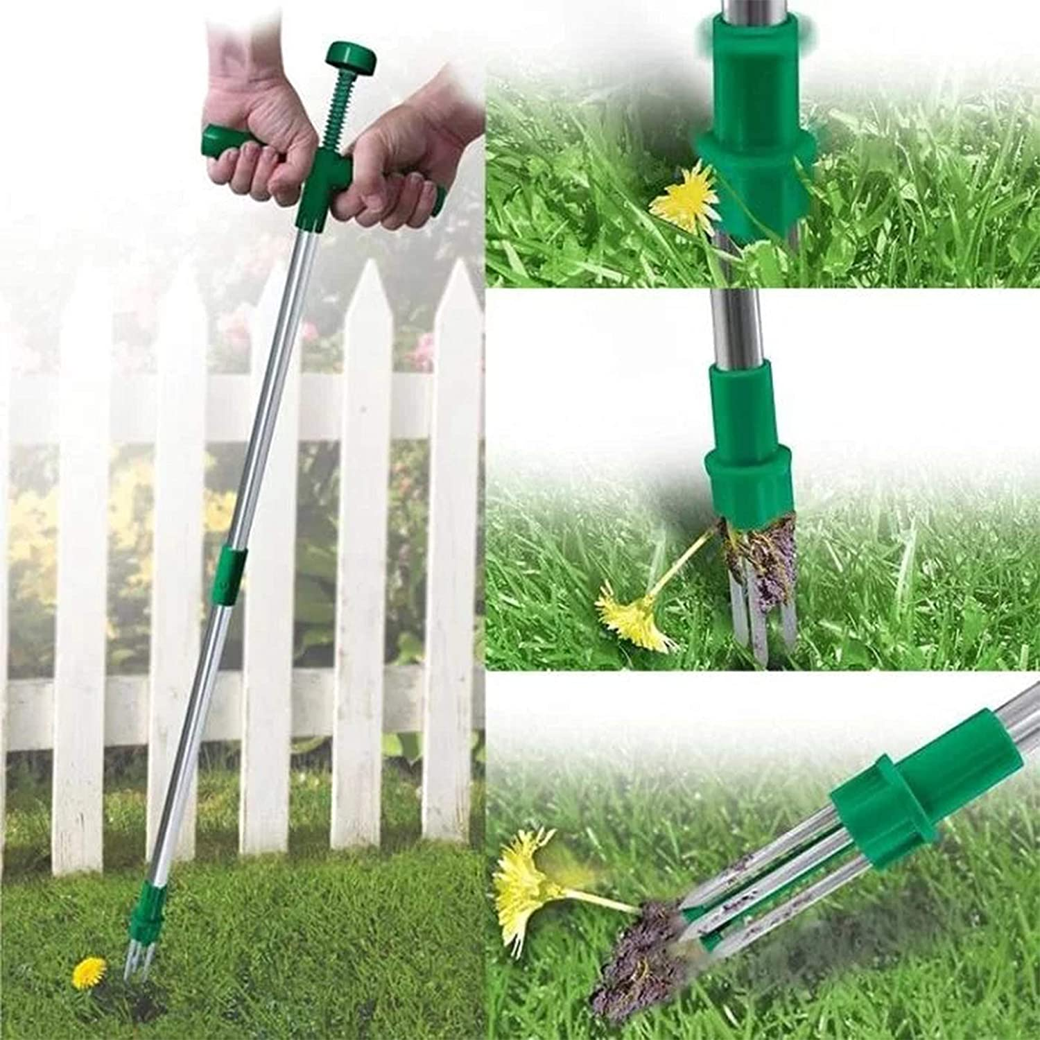 Steel Weed Puller Twister Claw Weed Remover Weeding Root Killer Garden Hand Tool Weeder